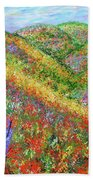 Impressionism- Flowers- Dreaming Of Spring Beach Towel
