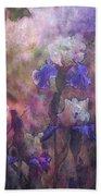 Impressionist Purple And White Irises 6647 Idp_2 Beach Towel
