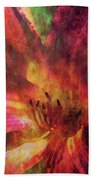 Impressionist Vibrant Daylily 1208 Idp_2 Beach Towel