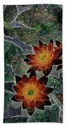 Impressionistic Lilies Beach Towel