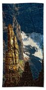 In A High Place Impasto Beach Towel