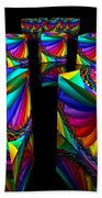 In Different Colors Thrown -3- Beach Towel by Issabild -