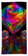 In Different Colors Thrown -8- Beach Towel by Issabild -