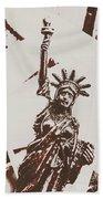In Liberty Of New York Beach Towel