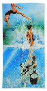 In Sync Beach Towel by Hanne Lore Koehler