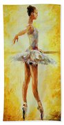 In The Ballet Class Beach Towel