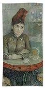 In The Cafe  Agostina Segatori In Le Tambourin Paris January  March 1887 Vincent Van Gogh 1853  Beach Towel