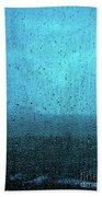 In The Dark Blue Rain Beach Towel