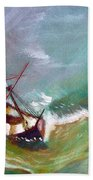 In The Eye Of The Storm Beach Towel