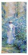 In The Flower Garden 1900 Beach Towel