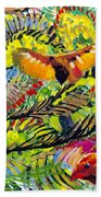 Birds In The Forest Beach Towel