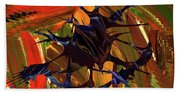 In The Forward Mind Abstract Beach Towel