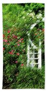 In The Garden Beach Towel by Carolyn Marshall