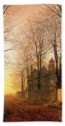 In The Golden Olden Time Beach Towel by John Atkinson Grimshaw