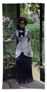 In The Greenhouse Beach Towel by Albert Bartholome