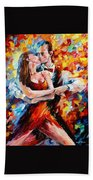 In The Rhythm Of Tango 2 - Palette Knife Oil Painting On Canvas By Leonid Afremov Beach Towel