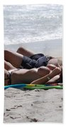 In The Sand At Paradise Beach Beach Towel