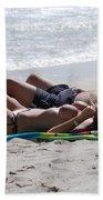 In The Sand At Paradise Beach Beach Towel