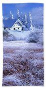 In The Snowy Forest Beach Towel