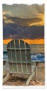 In The Spotlight Bordered Beach Towel