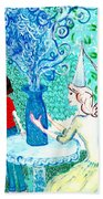 In The White Lady's Cave Beach Towel