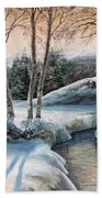 In The Winter In Carpathians.  Beach Towel