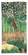 In The Woods At Giverny Beach Towel