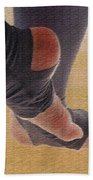 In Warm Up Tights Relaxed Position Beach Towel