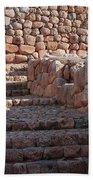 Inca Steps At Chinchero  Beach Towel