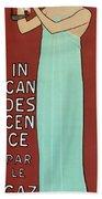 Incandescence Par Le Gaz  1892 Beach Towel