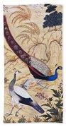 India: Peafowl, C1610 Beach Towel