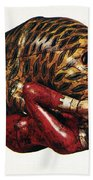 India: Tiger Attack Beach Towel