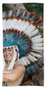 Indian 021 Beach Towel