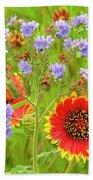 Indian Blanketflowers Gaillardia Puchella Beach Towel