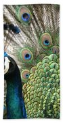 Indian Blue Peacock Puohokamoa Beach Towel