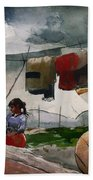Indian Camp - Roberval P Q Beach Towel