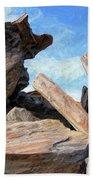 Indian Canyon Rocks Beach Towel