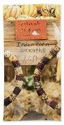 Indian Corn Wreaths Beach Towel