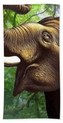 Indian Elephant 1 Beach Towel