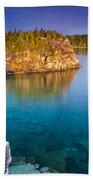 Indian Head Cove Sunrise  Beach Towel