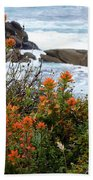 Indian Paintbrush At Point Lobos Beach Towel