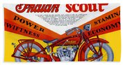 Indian Scout Beach Towel