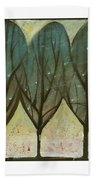 Indian Summer Snow Beach Towel