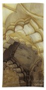 Indian Temple Arches Beach Towel