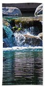 Indian Wells Waterfall Beach Towel
