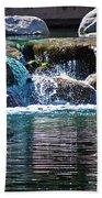 Indian Wells Waterfall Beach Towel