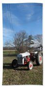 Indiana Hwy 63 South Vintage Ford Tractor Color Version Beach Towel