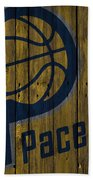 Indiana Pacers Wood Fence Beach Towel