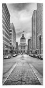 Indiana State Capitol Building Beach Towel by Howard Salmon