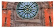 Indianapolis Union Station Building Beach Towel